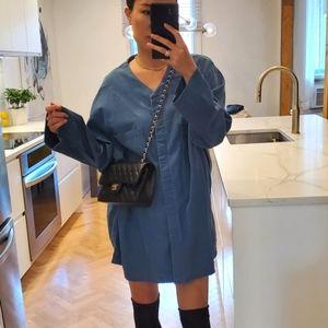 Oversize denim blouse
